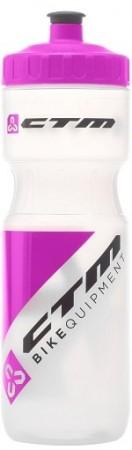 Bidon hidratare CTM 800 ml alb/siclam