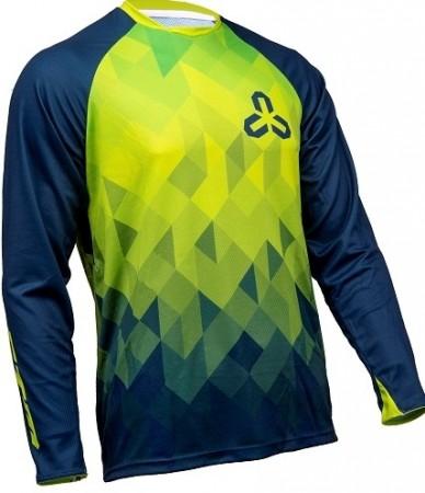 Tricou ciclism CTM ENDURO albastru/verde
