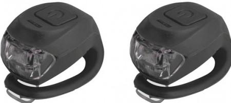Set lumini far si stop CTM UFO 2 led negru