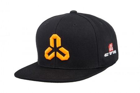 Sapca CTM Snapback negru cu logo portocaliu