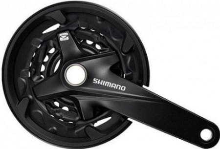 Angrenaj pedalier SHIMANO FC-MT200  3x9V aparatoate negru