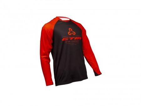 Tricou ciclism CTM ENDURO negru/rosu