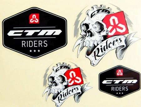Set stikere bicicleta CTM RIDERS