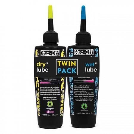 Set ulei lubrifiant lant MUC-OFF WET&DRY TWIN PACK