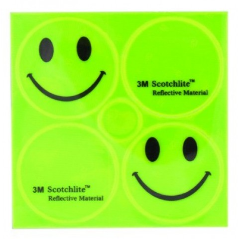 Sticker reflectorizant M-WAVE Smiley 120990