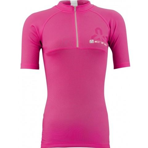 Tricou ciclism dama CTM FLOW roz