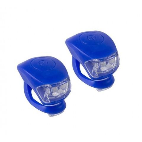 Set lumini far si stop CTM UFO 2 led albastru