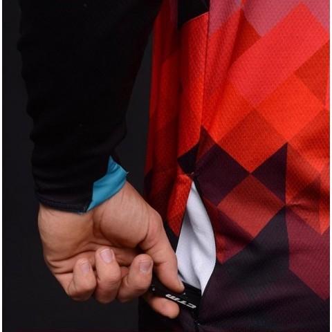 Tricou ciclism CTM ENDURO negru/bleu/rosu