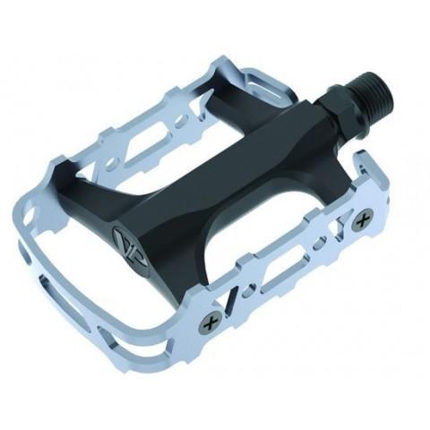 Pedale CROSSER VPE-993 aluminiu - negru/gri