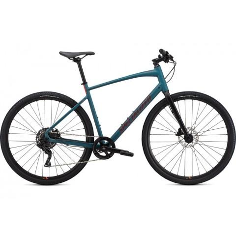 Bicicleta SPECIALIZED Sirrus X 2.0 - Dusty Turuoise/Black/Rocket Red XL