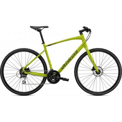 Bicicleta SPECIALIZED Sirrus 2.0 - Gloss Hyper Green/Black/Satin Black Reflective XS