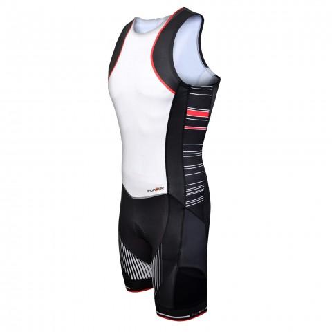 Costum triathlon FUNKIER Licata Men Pro - Alb/Negru M