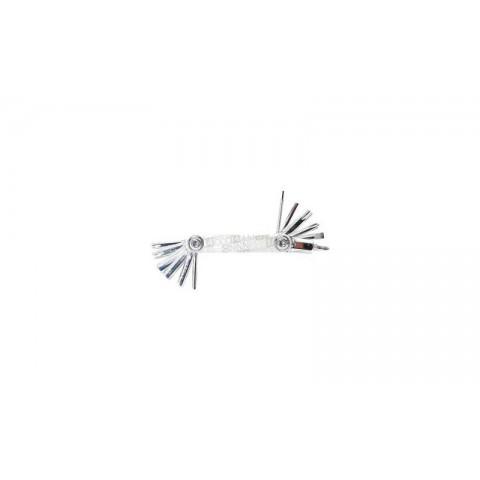 Set imbus CONTEC Multi-Tool 14 functii argintiu