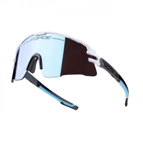 Ochelari Force Ambient, alb/gri/negru, lentila albastra