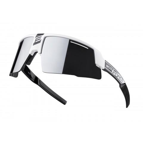 Ochelari Force Ignite, alb/negru, lentila neagra