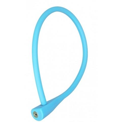 Antifurt cablu CTM SOFTY 10x600mm cu cheie bleu