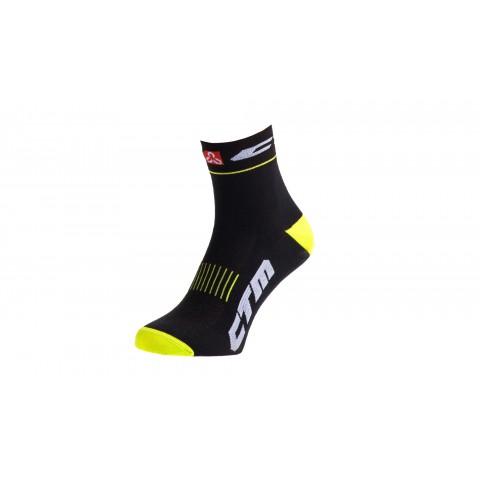 Sosete sport CTM XC negru/galben