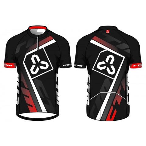 Tricou ciclism CTM TEAM XC negru/rosu