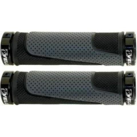 Mansoane ghidon VELO D3 130mm lock-on gri/negru